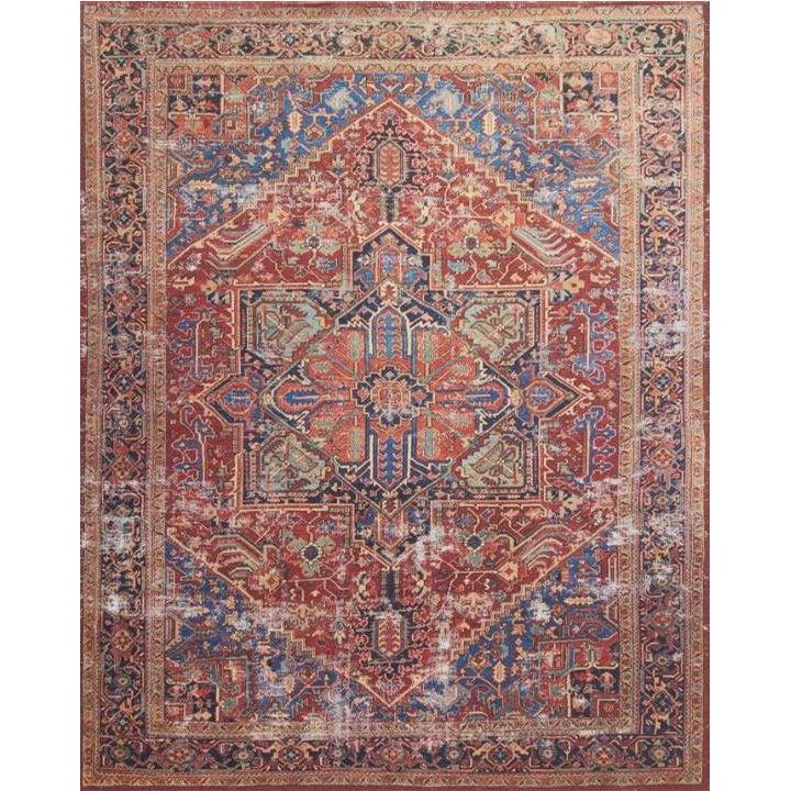 Joanna Gaines Lucca Rug Collection - LF-09 Red/Blue-Loloi Rugs-Blue Hand Home