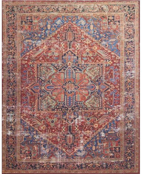 Joanna Gaines Lucca Rug Collection - LF-09 Red/Blue