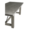 Concrete and Reclaimed Elm Farm Table - Blue Hand Home