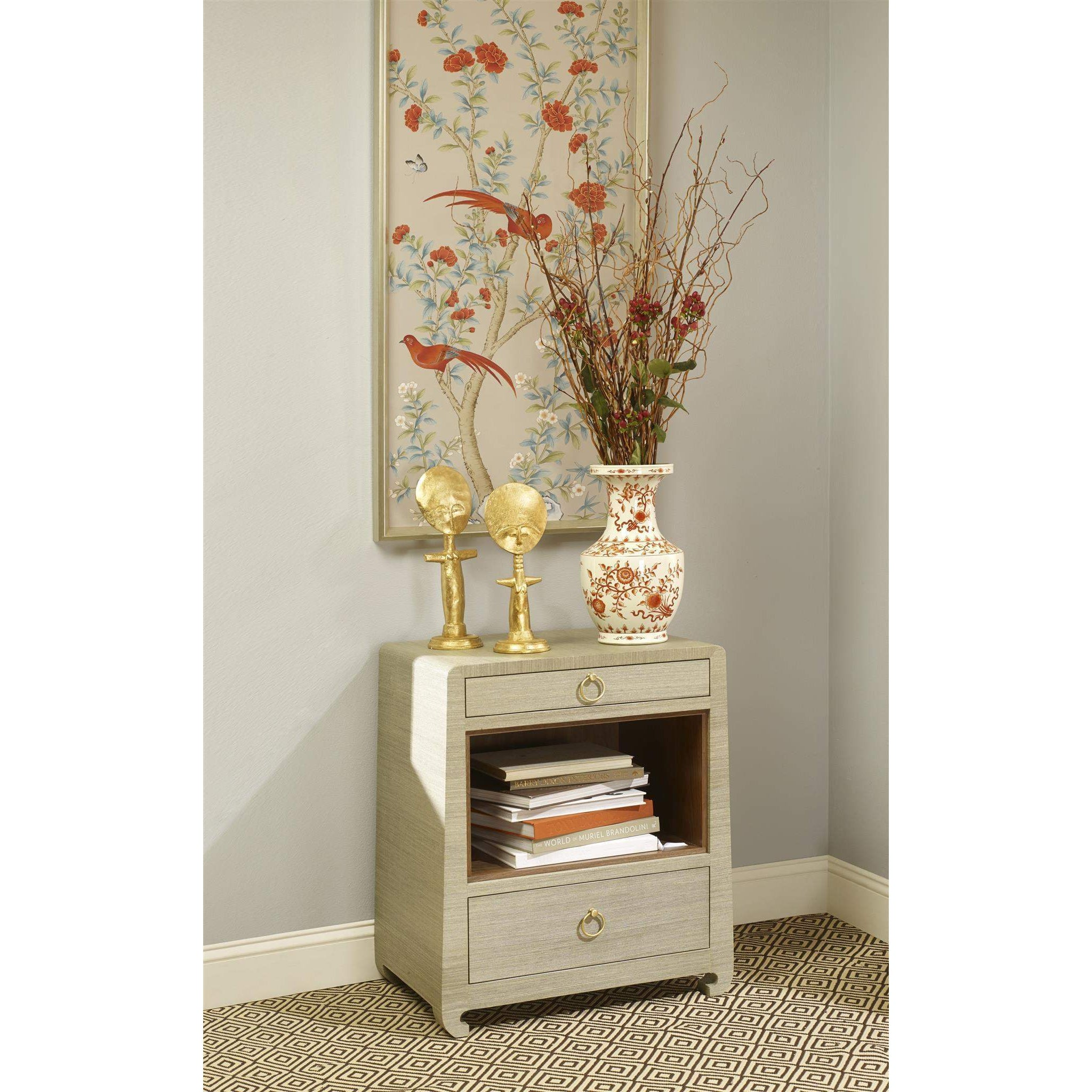 Bungalow 5 Ming 2 Drawer Side Table In Sage Green