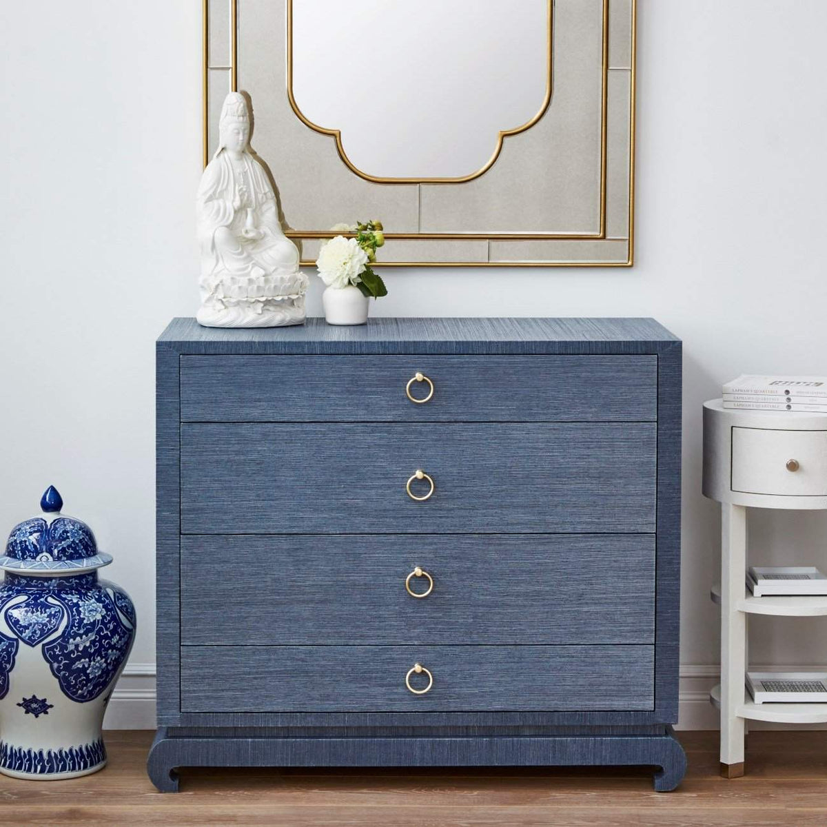 Bungalow 5 - MING LARGE 4-DRAWER in NAVY BLUE-Bungalow 5-Blue Hand Home