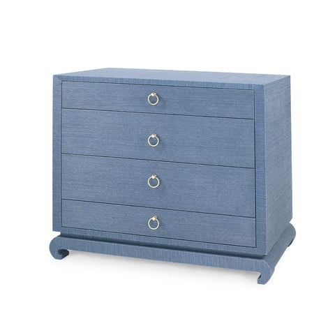 Bungalow 5 - MING LARGE 4-DRAWER in NAVY BLUE - Blue Hand Home