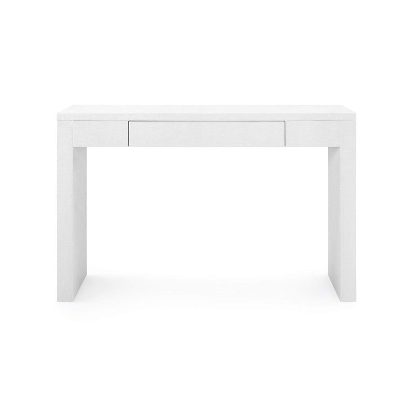 Bungalow 5 - MORGAN GRASSCLOTH CONSOLE TABLE in WHITE-Bungalow 5-Blue Hand Home