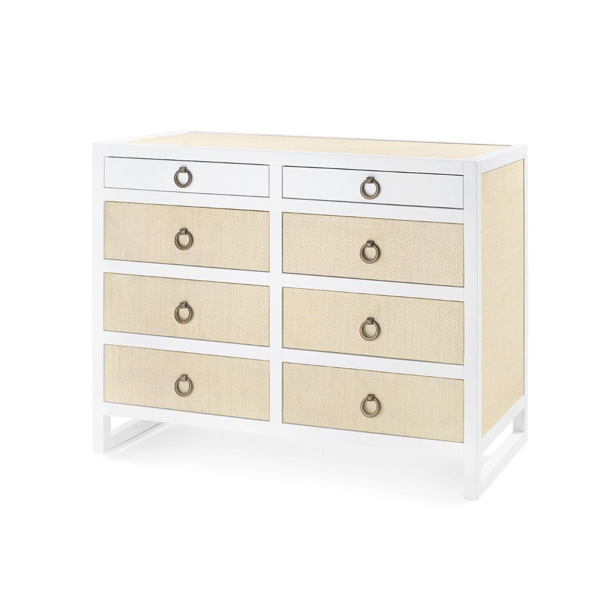 Bungalow 5 - MALLET 8-DRAWER, WHITE-Bungalow 5-Blue Hand Home