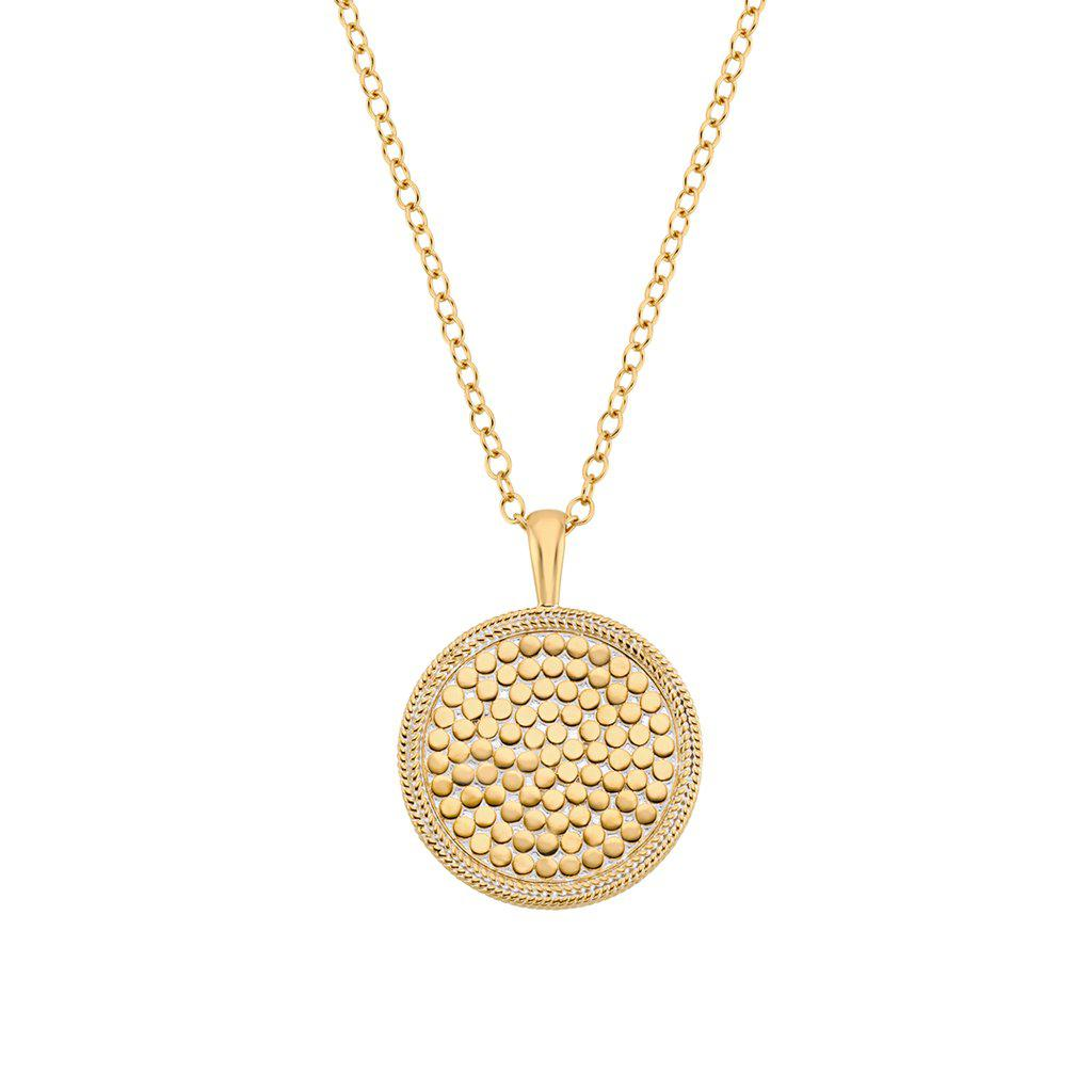 Anna Beck Medallion Pendant Necklace - Gold-Anna Beck Jewelry-Blue Hand Home