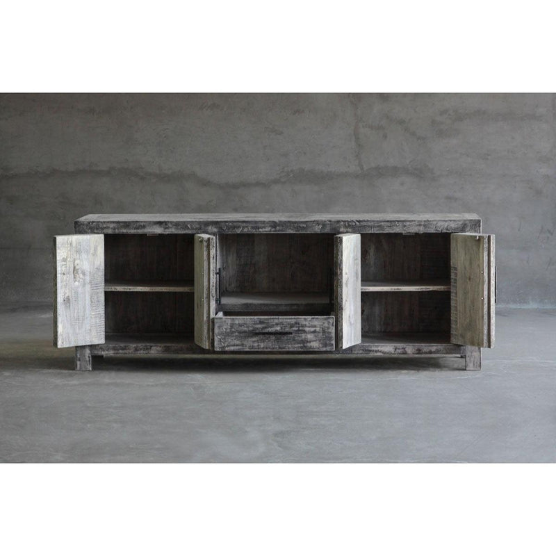Reclaimed Elm Media Console-Organic Restoration-Blue Hand Home