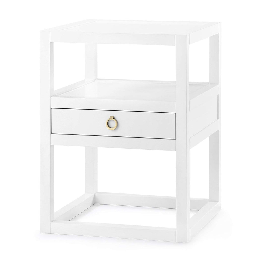 Bungalow 5 - NEWPORT 1-DRAWER SIDE TABLE in WHITE-Bungalow 5-Blue Hand Home