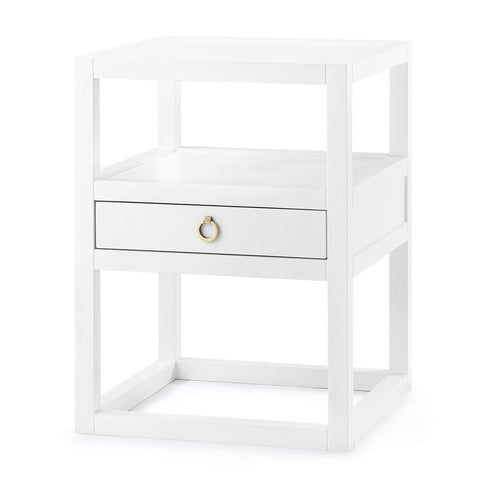 Bungalow 5 - NEWPORT 1-DRAWER SIDE TABLE in WHITE - Blue Hand Home
