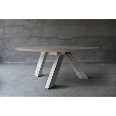 Concrete Top Dining Table - V Base