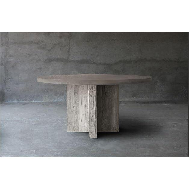 Concrete Top Dining Table - T Base-Organic Restoration-Blue Hand Home