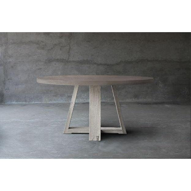 Concrete Top Dining Table - X Base