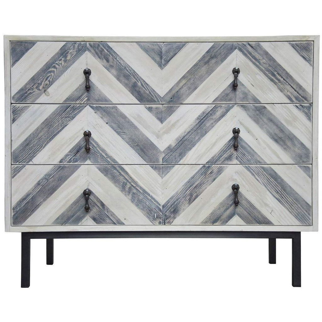 CFC Furniture Chevron Dresser - Blue Hand Home