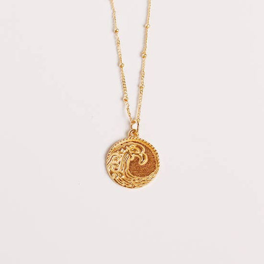 Ocean Waves Medallion Necklace
