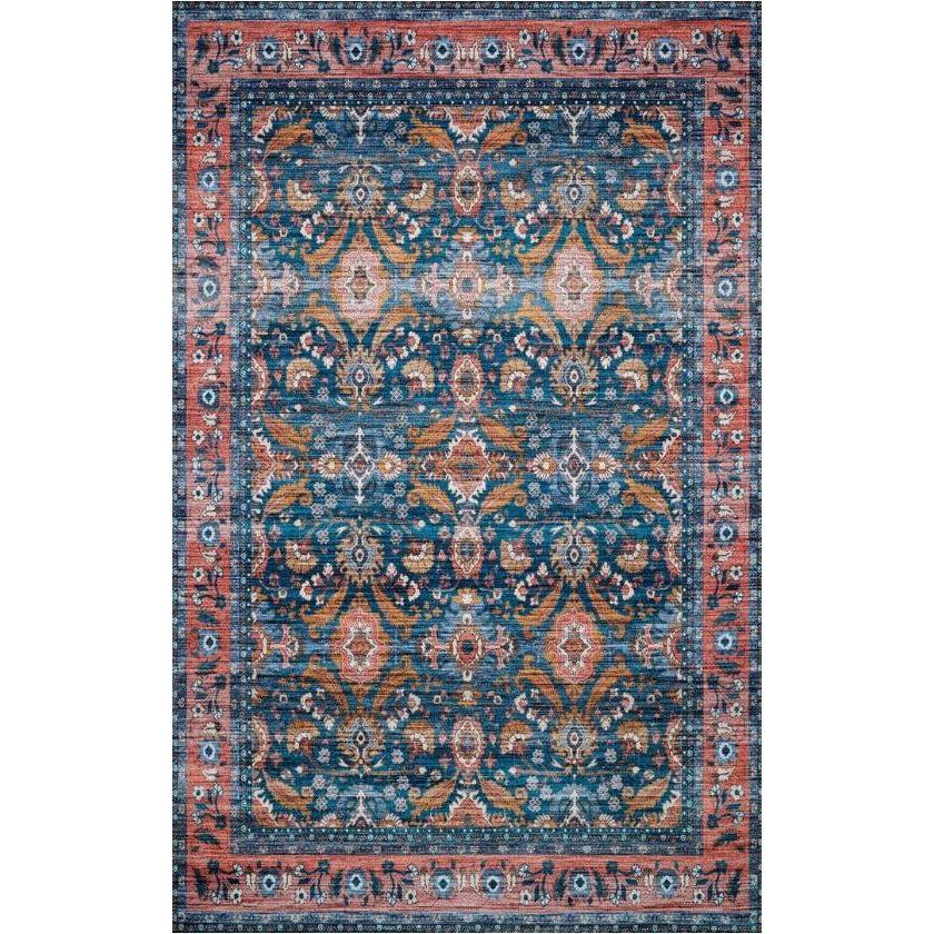 Justina Blakeney Rugs - Cielo - CIE-07 Ocean/Coral-Loloi Rugs-Blue Hand Home