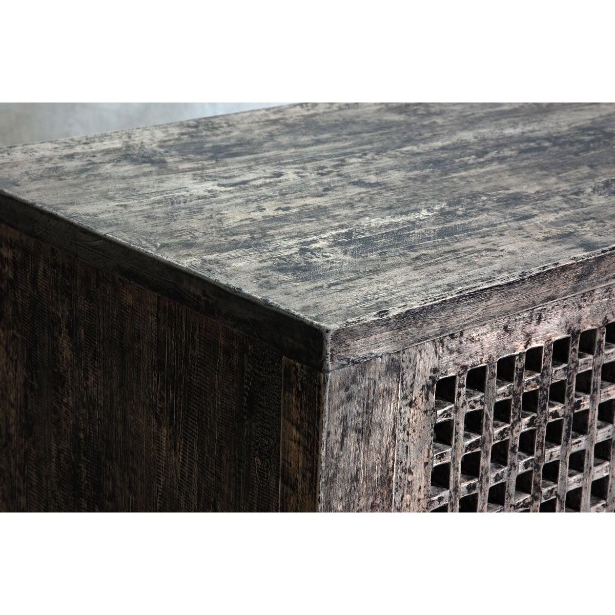 Reclaimed Elm Small Slatted Buffet-Organic Restoration-Blue Hand Home