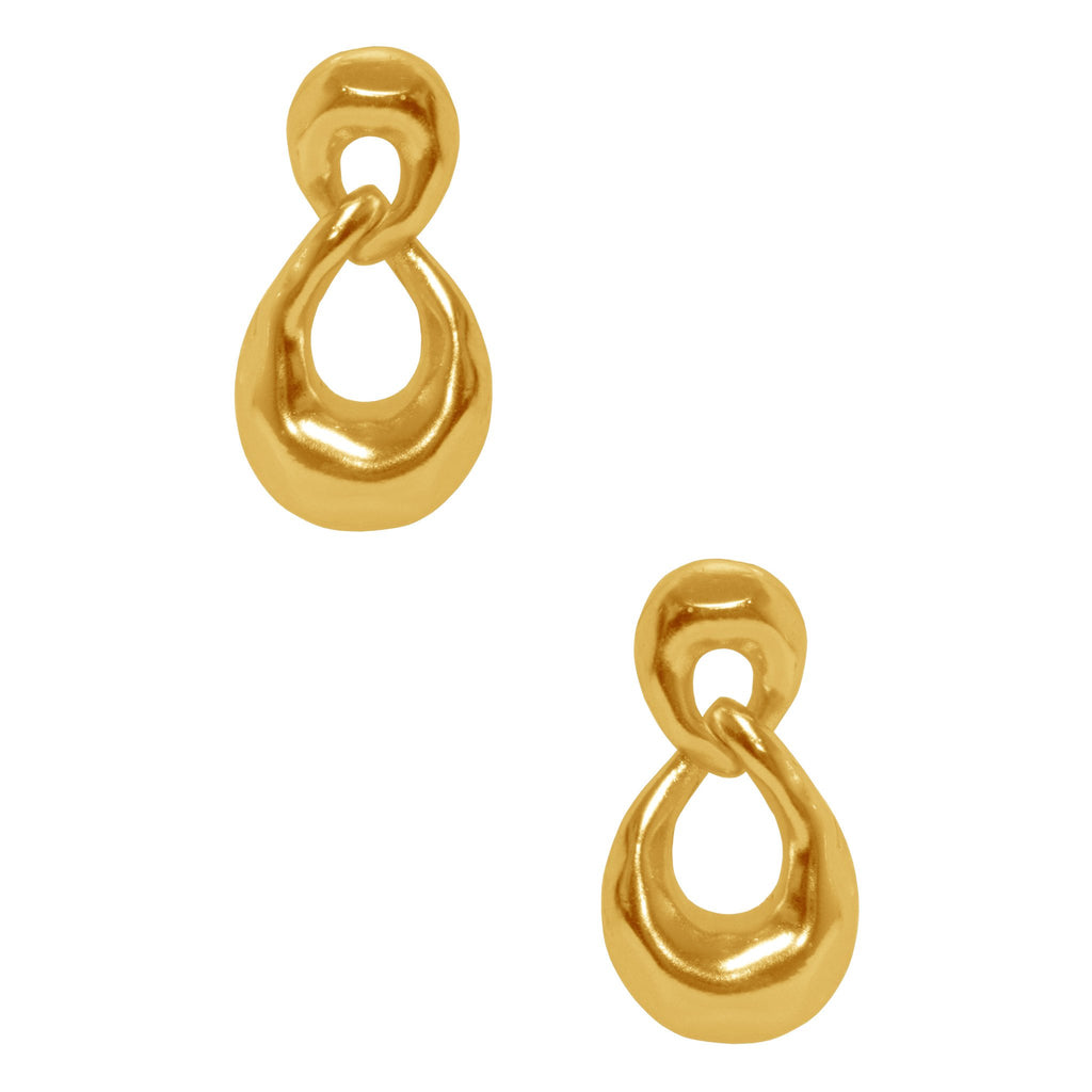 Karine Sultan Intertwined Oval Earrings-Karine Sultan-Blue Hand Home