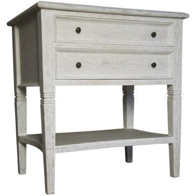 Noir Oxford 2 Draw Side Table-Noir Furniture-Blue Hand Home