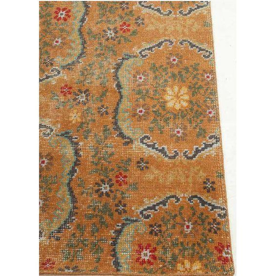 Jaipur Artisan Row Kai Rugs  - Orange Spice and Liquorice