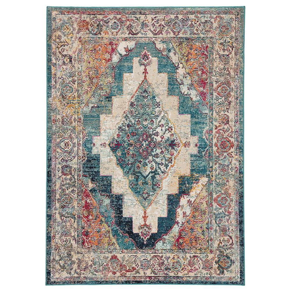 Jaipur Peridot Rugs - Safari/Colonial Blue