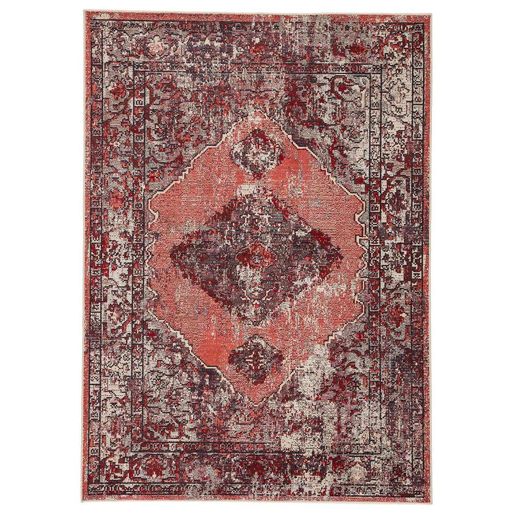 Jaipur Peridot Rugs - Lipstick Red/Burnt Orange-Jaipur Living-Blue Hand Home