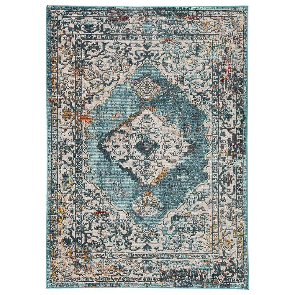 Jaipur Peridot Rugs - Colonial Blue/White Swan-Jaipur Living-Blue Hand Home