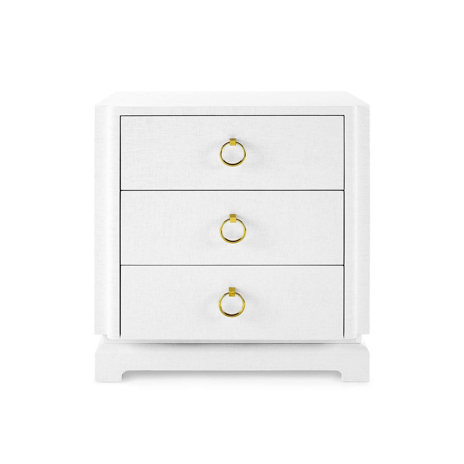 new style 7df3c 93880 Bungalow 5 - PAVEL 3-DRAWER SIDE TABLE in WHITE