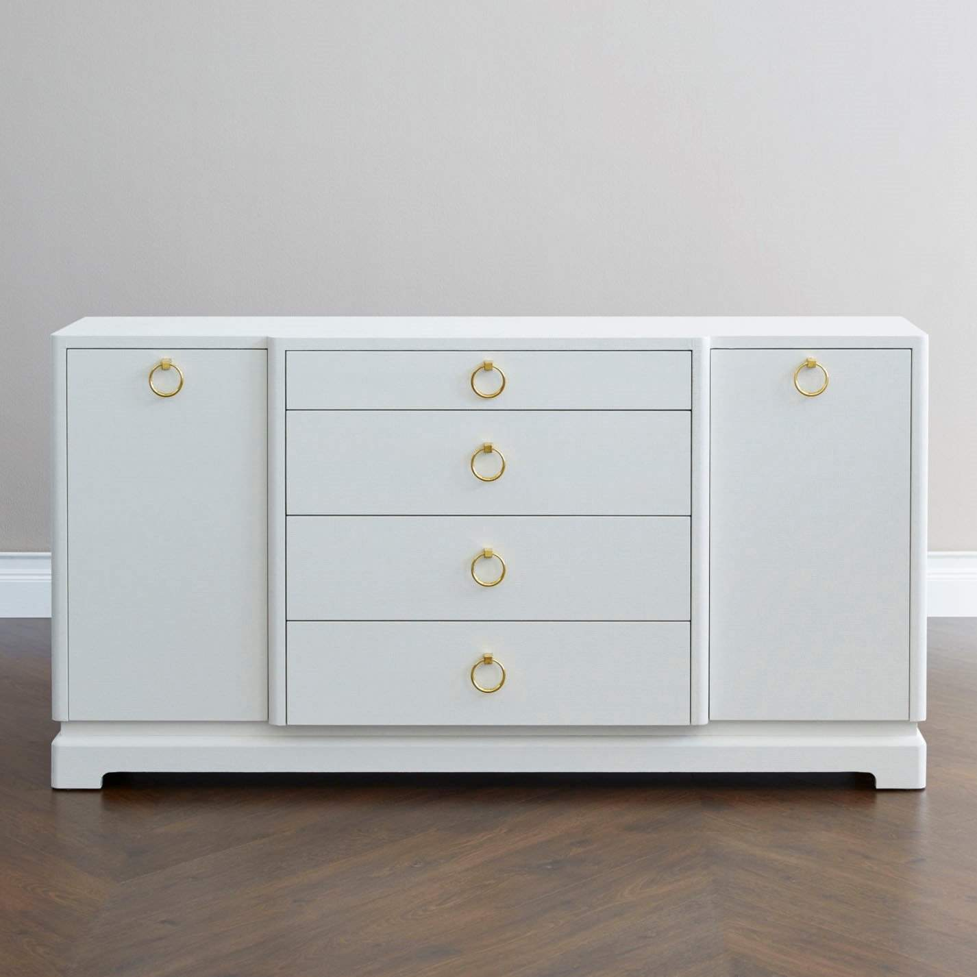 Bungalow 5 Pavel 4 Drawer 2 Door Cabinet In White