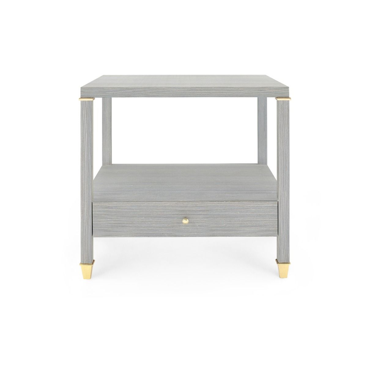 Bungalow 5 - PASCAL 1-DRAWER SIDE TABLE, SLATE BLUE-Bungalow 5-Blue Hand Home