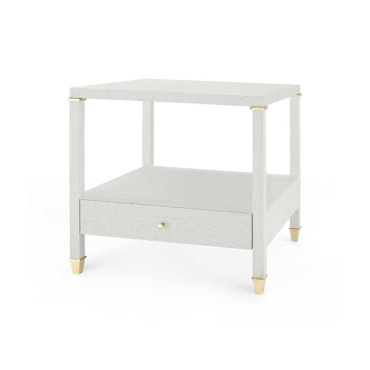 Bungalow 5 - PASCAL 1-DRAWER SIDE TABLE, SILVER