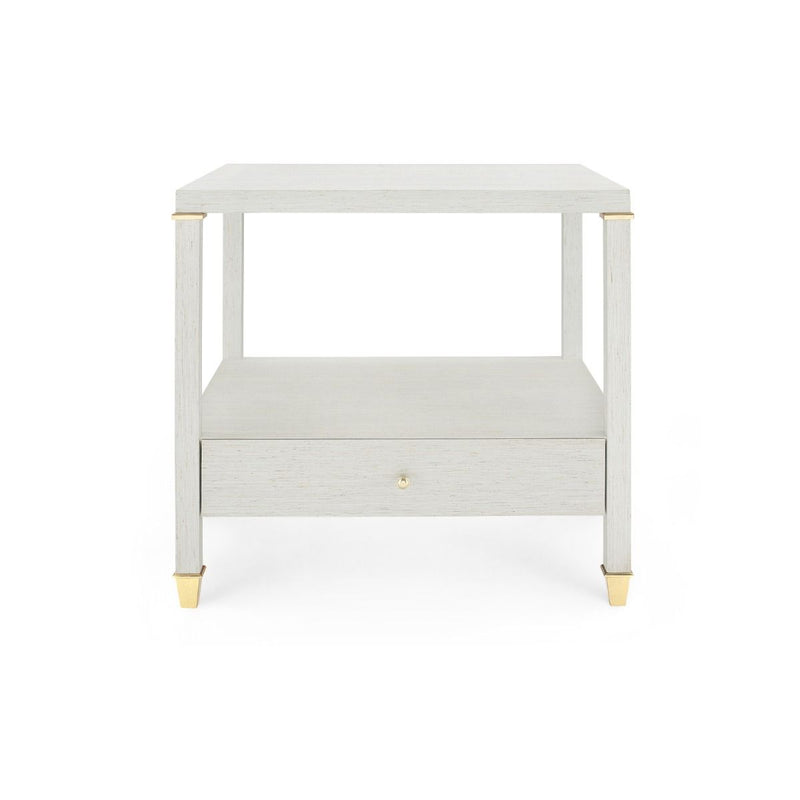 Bungalow 5 - PASCAL 1-DRAWER SIDE TABLE, SILVER-Bungalow 5-Blue Hand Home