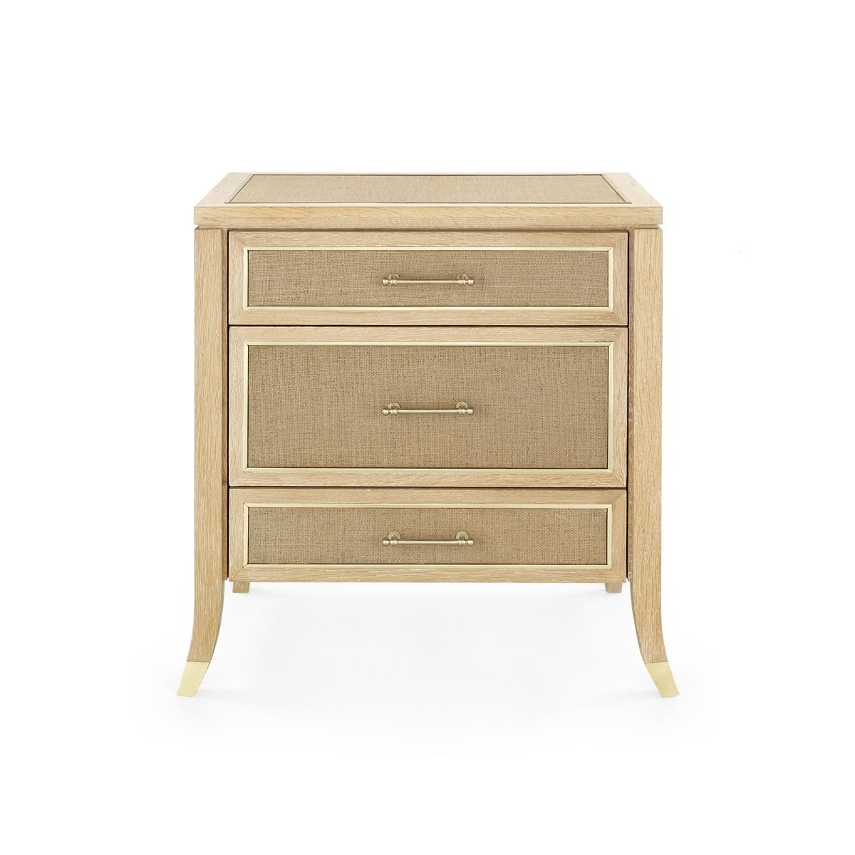 Bungalow 5 - PAULINA 3-DRAWER SIDE TABLE, NATURAL