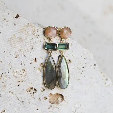 Peach Bellini Earrings-Joya-Blue Hand Home