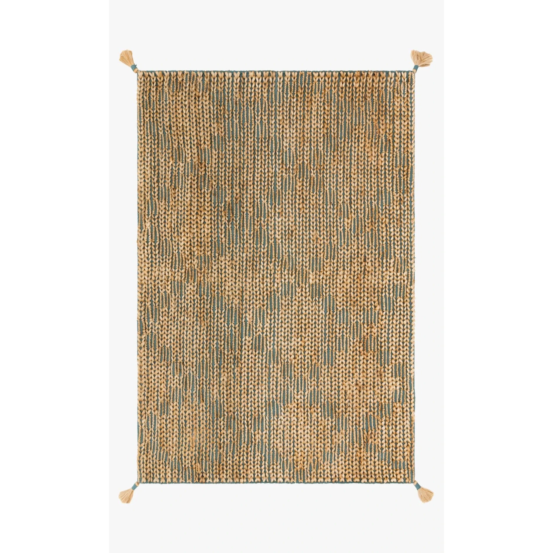 Justina Blakeney Playa Rug Collection - Ply-02 Aqua/Natural-Loloi Rugs-Blue Hand Home