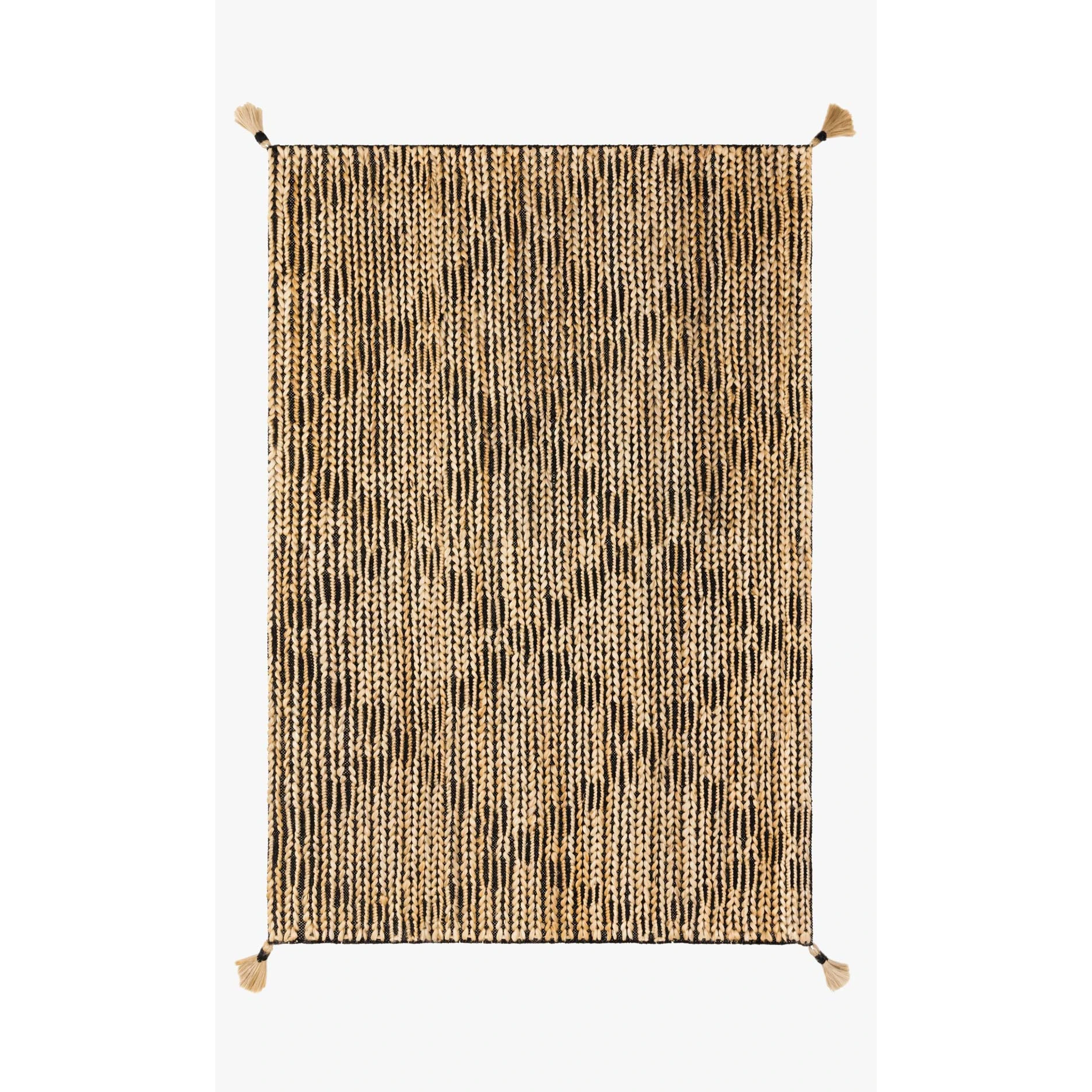 Justina Blakeney Playa Rug Collection - Ply-02 Black/Natural-Loloi Rugs-Blue Hand Home