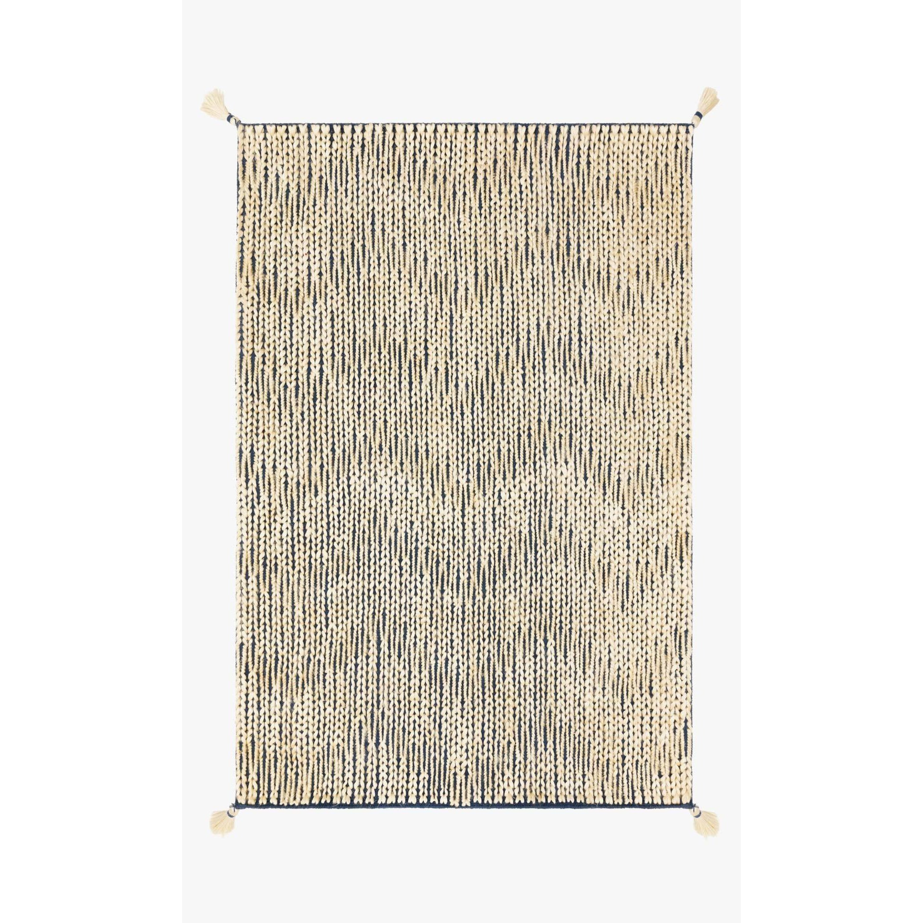 Justina Blakeney Playa Rug Collection - Ply-01 Navy/Ivory-Loloi Rugs-Blue Hand Home