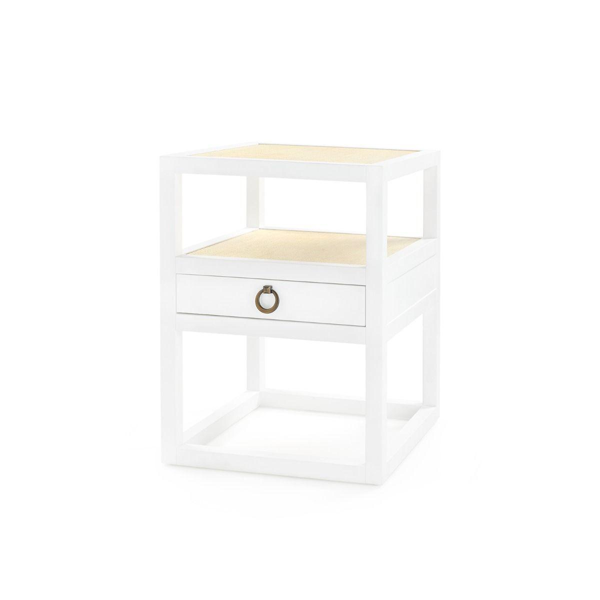 Bungalow 5 - POLO 1-DRAWER SIDE TABLE, WHITE