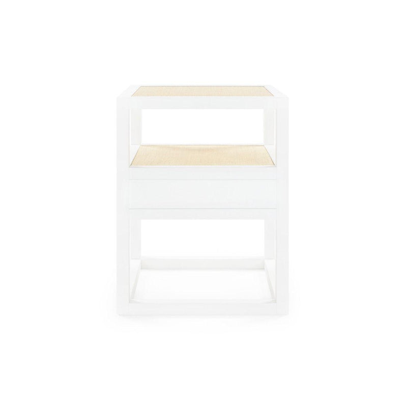 Bungalow 5 - POLO 1-DRAWER SIDE TABLE, WHITE-Bungalow 5-Blue Hand Home