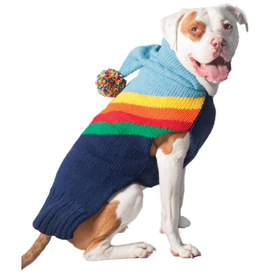 Rainbow Dog Hoodie-Chilly Dog-Blue Hand Home