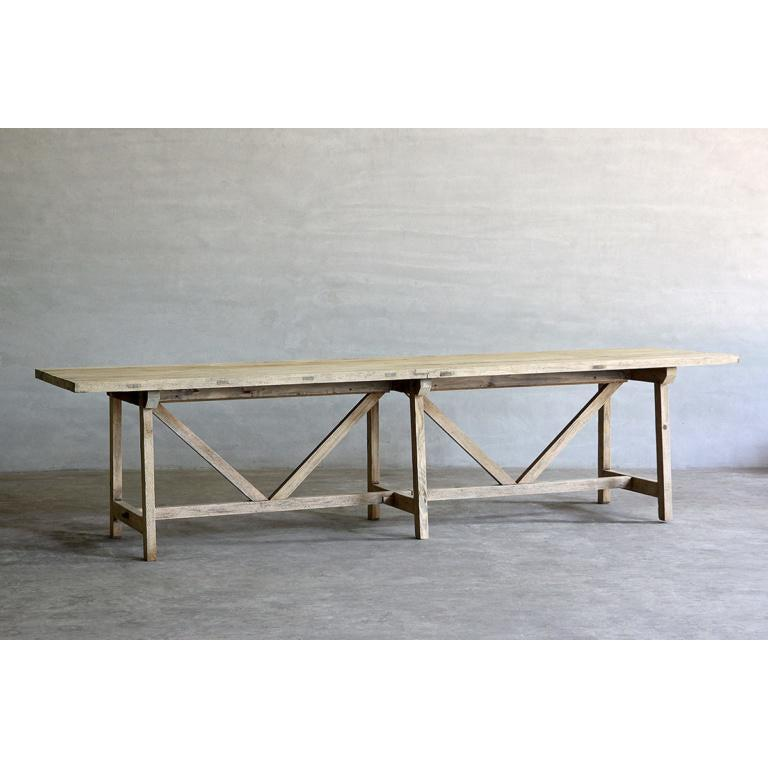 Reedition French Farm Table-Organic Restoration-Blue Hand Home