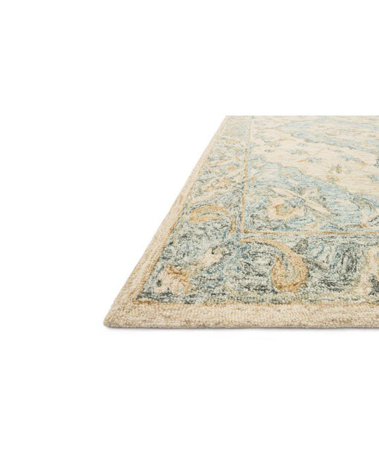 Joanna Gaines Ryeland Rug Collection - RYE-02 Ivory/Sky