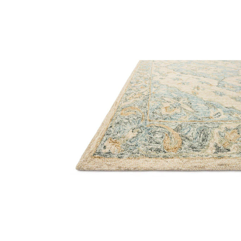 Joanna Gaines Ryeland Rug Collection - RYE-02 Ivory/Sky-Loloi Rugs-Blue Hand Home