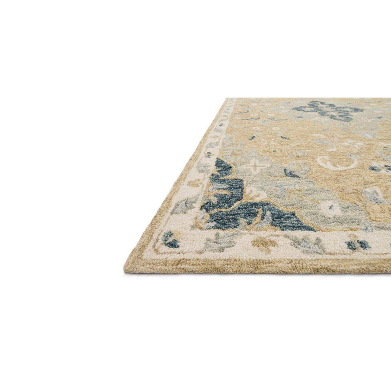 Joanna Gaines Ryeland Rug Collection - RYE-04 Wheat/Multi-Loloi Rugs-Blue Hand Home