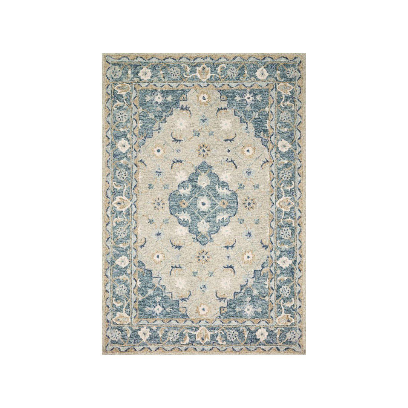 Joanna Gaines Ryeland Rug Collection - RYE-05 Grey/Blue-Loloi Rugs-Blue Hand Home