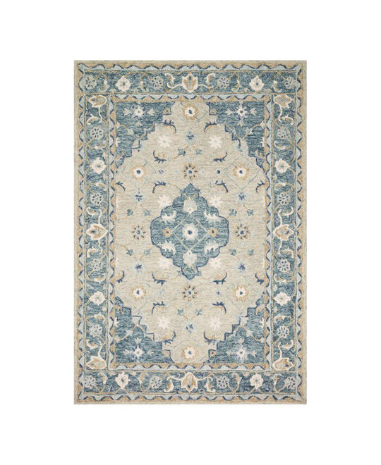 Joanna Gaines Ryeland Rug Collection - RYE-05 Grey/Blue