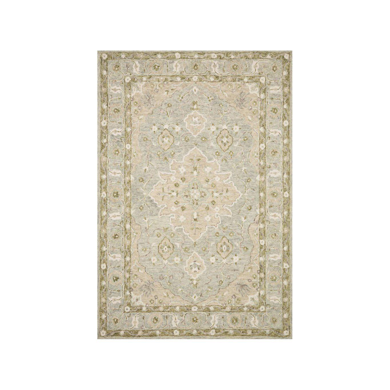 Joanna Gaines Ryeland Rug Collection - RYE-06 Grey/Sage-Loloi Rugs-Blue Hand Home