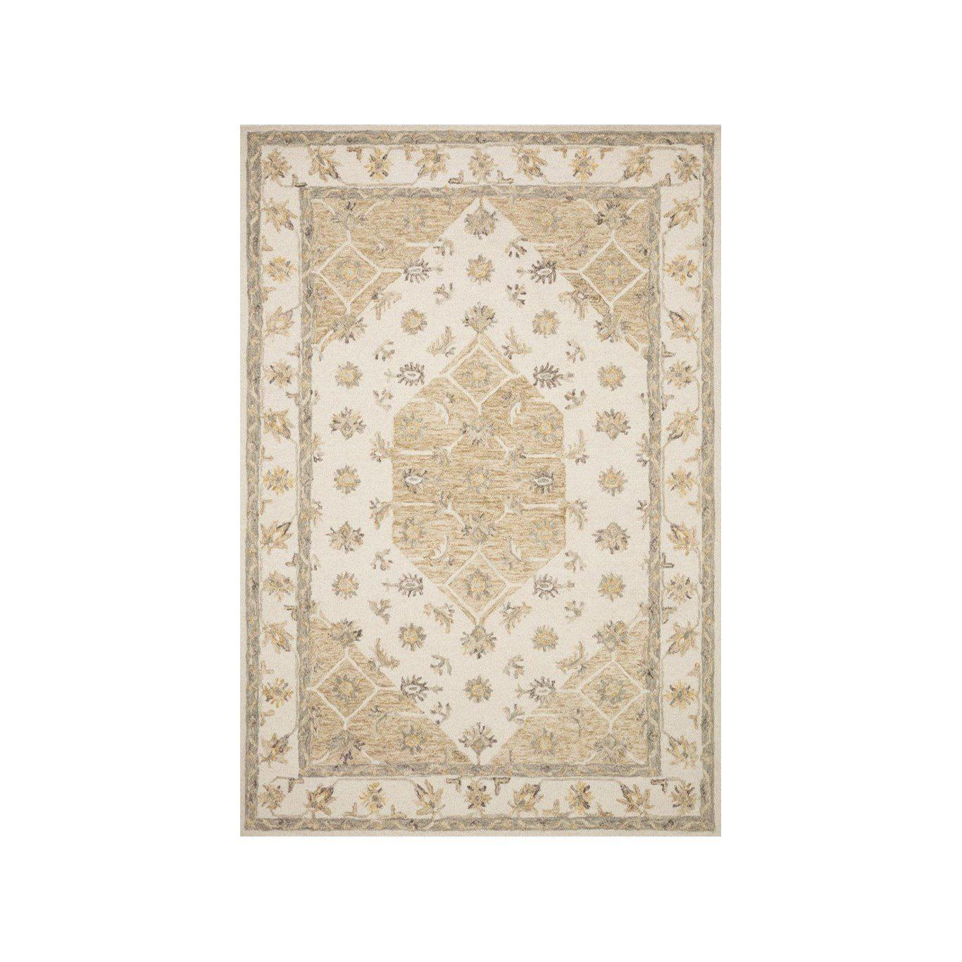 Joanna Gaines Ryeland Rug Collection - RYE-01 Ivory/Natural-Loloi Rugs-Blue Hand Home