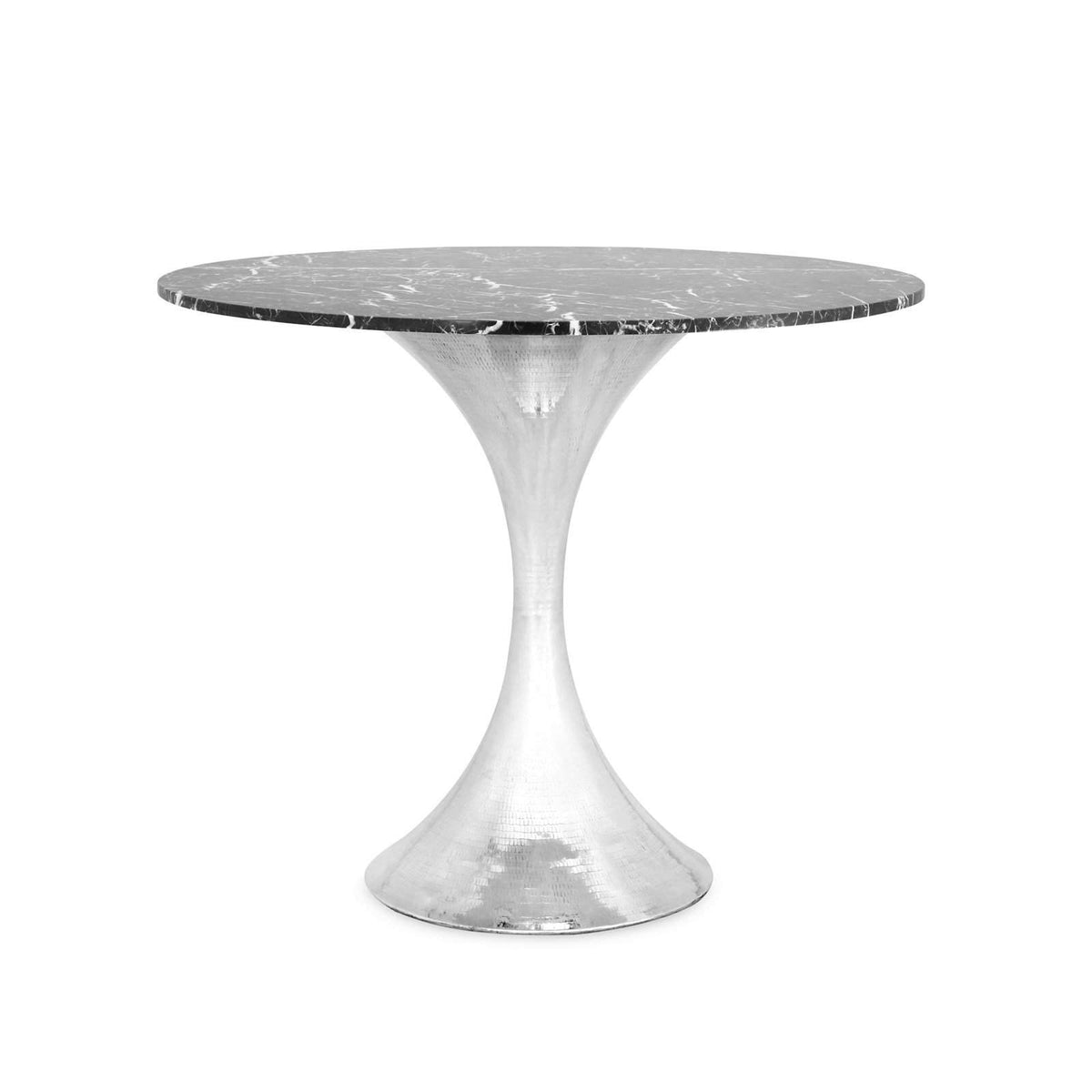 "Bungalow 5 - STOCKHOLM NICKEL CENTER DINING TABLE BASE (PAIRS WITH 36"" TOP, SOLD SEPARATELY) in NICKEL-Bungalow 5-Blue Hand Home"