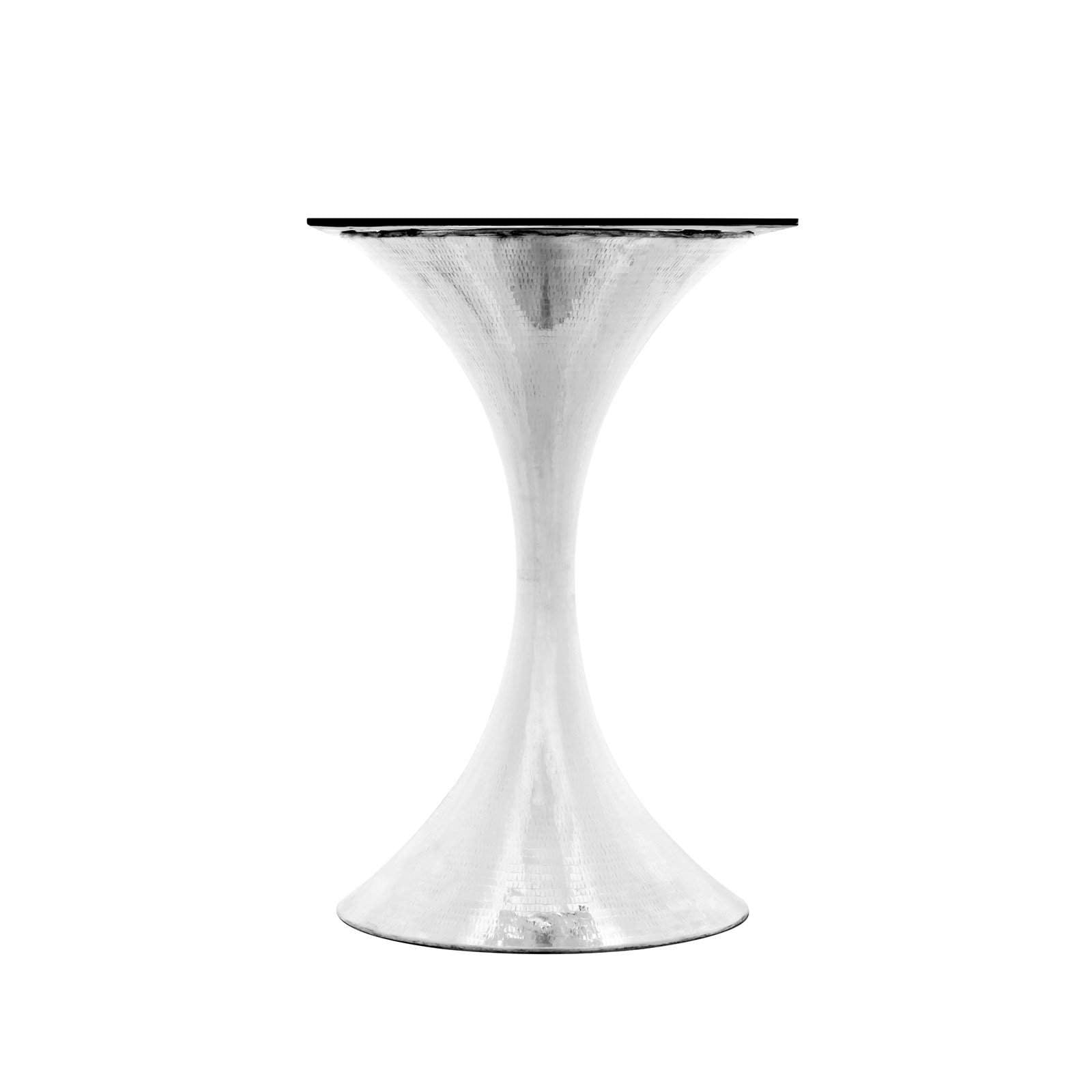 "Bungalow 5 - STOCKHOLM NICKEL CENTER DINING TABLE BASE (PAIRS WITH 36"" TOP, SOLD SEPARATELY) in NICKEL"