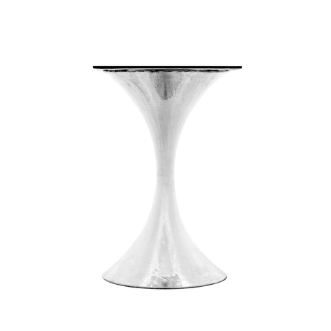 "Bungalow 5 - STOCKHOLM NICKEL CENTER DINING TABLE BASE (PAIRS WITH 36"" TOP, SOLD SEPARATELY) in NICKEL - Blue Hand Home"