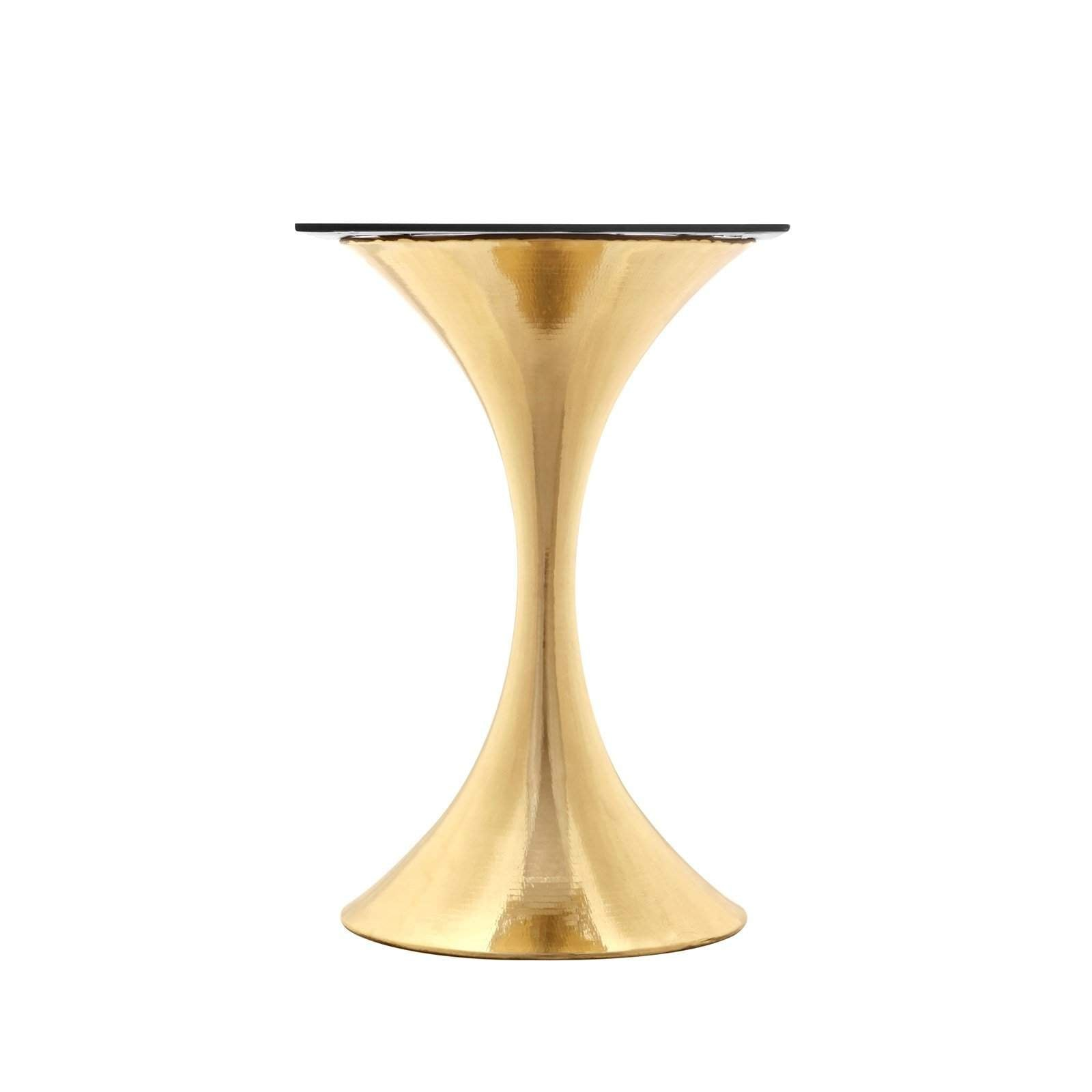 "Bungalow 5 - STOCKHOLM BRASS CENTER DINING TABLE BASE (PAIRS WITH 36"" TOP, SOLD SEPARATELY) in BRASS"